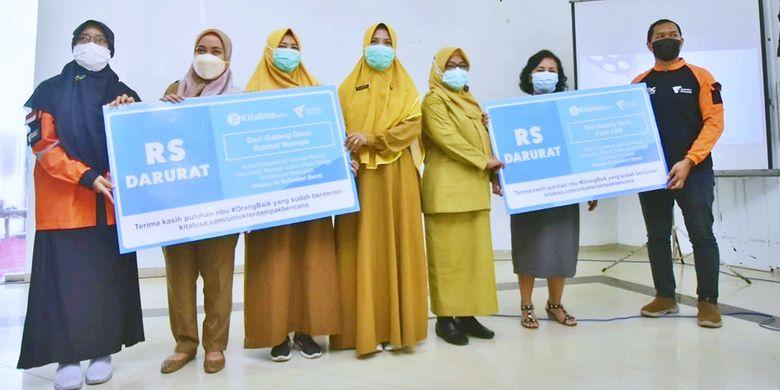 Peresmian Rumah Sakit Lapangan dari Dompet Dhuafa untuk masyarakat korban gempa Mamuju, Sulawesi Barat, Senin (29/3/2021).