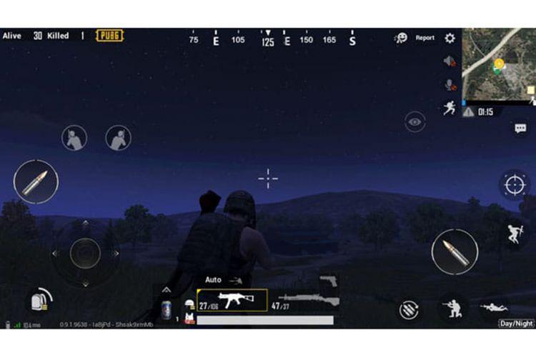 Mode malam di game PUBG Mobile.