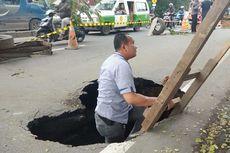 Jalan Ambles di Daan Mogot Mulai Diperbaiki, Arus dari Jakarta Ditutup Sementara