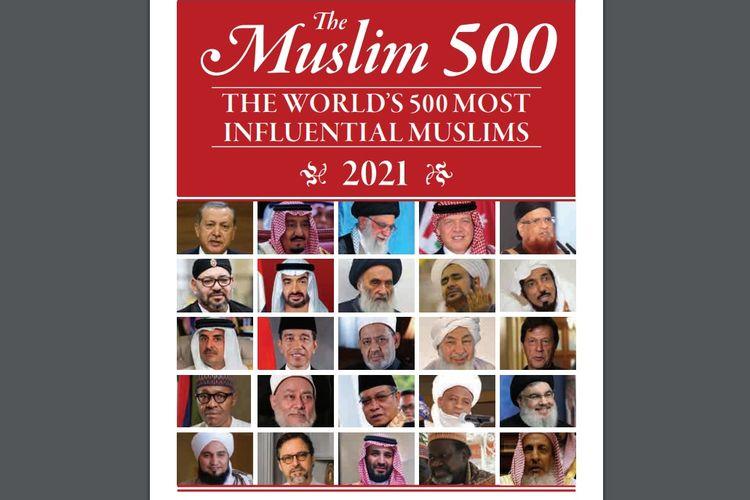 Inilah sampul publikasi The Muslim 500, di mana Presiden Indonesia Joko Widodo (Jokowi) berada di urutan 12 dari 50 tokoh Muslim berpengaruh dunia.