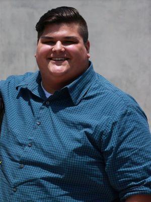 Berat badan Christopher Huerta sebelum diet.