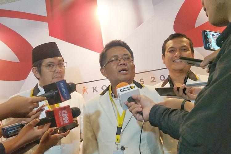 Presiden Partai Keadilan Sejahtera (PKS) Sohibul Iman saat ditemui di Rapat Koordinasi Nasional (Rakornas) PKS, Hotel Bidakara, Jakarta, Kamis (14/11/2019).