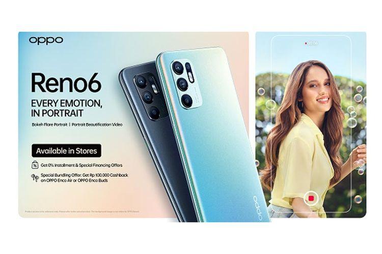 Oppo Reno6 tersedia di Oppo Store dan e-commerce.