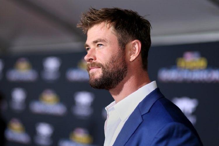 Aktor Chris Hemsworth menghadiri acara pemutaran perdana film produksi Marvel Studios, Thor: Ragnarok, di El Capitan Theatre, Hollywood, California, pada Rabu (10/11/2017).