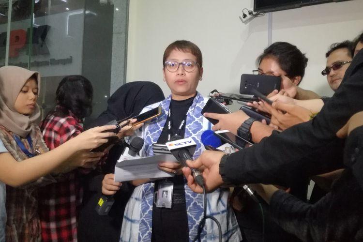 Kepala Bagian Pemberitaan dan Publikasi Komisi Pemberantasan Korupsi (KPK), Yuyuk Andriati Iskak