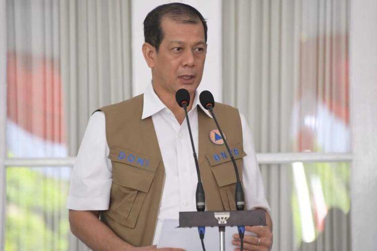 Ketua Satuan Tugas Percepatan Penanganan Covid-19 Doni Monardo saat memberikan keterangan di Gedung Pakuan, Kota Bandung, Kamis (6/8/2020).