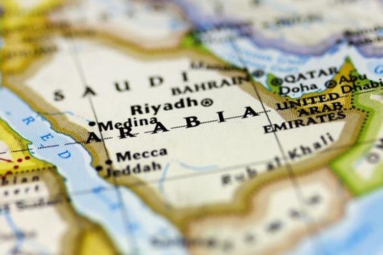 Peta Arab Saudi.
