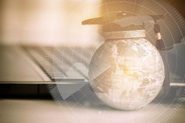 Ilustrasi pembelajaran digital