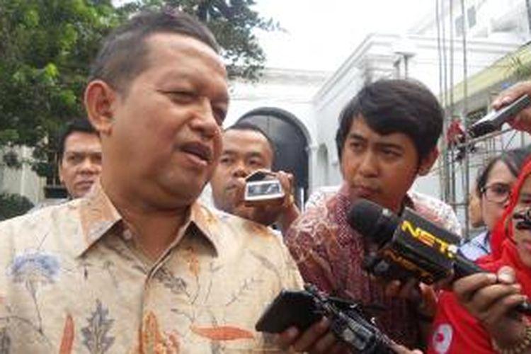 Ketua Majelis Pertimbangan Partai Amanat Nasional (PAN), Soetrisno Bachir usai bertemu Presiden Joko Widodo (Jokowi), Kamis (10/9/2015).