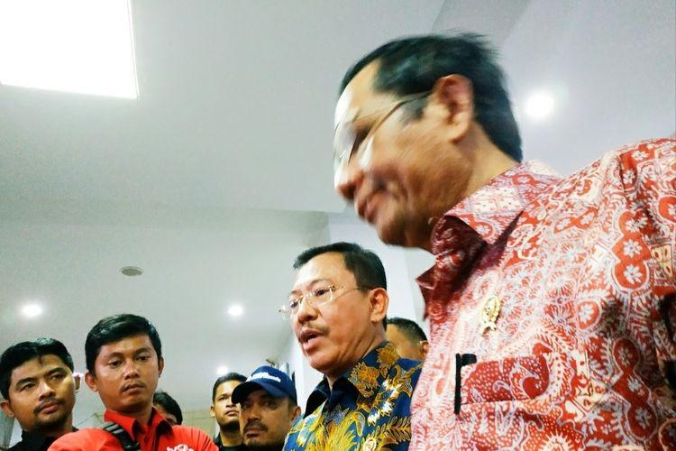 Terawan Agus Putranto di Kantor Bupati  Natuna, Kamis (6/2/2020).