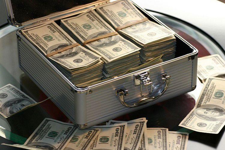 Ilustrasi investasi valuta asing (valas) dollar Amerika Serikat