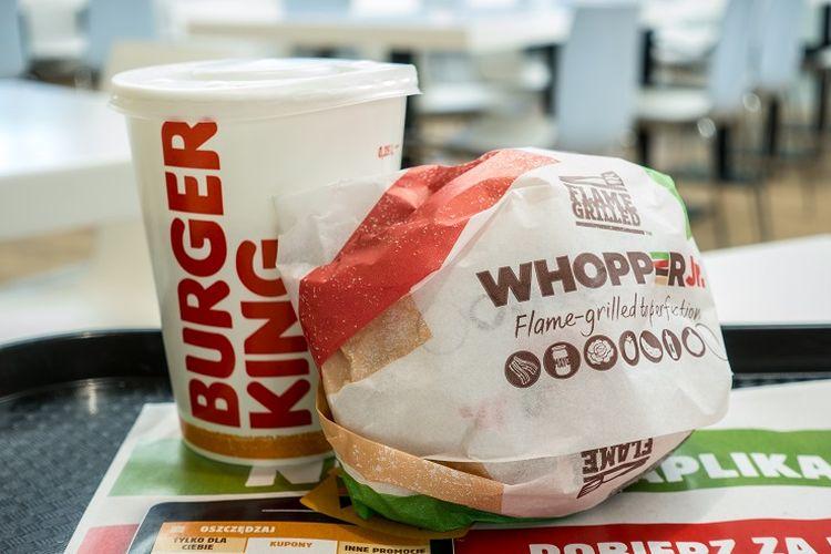 Ilustrasi Burger Whopper milik Burger King.