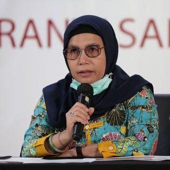 Wakil Ketua KPK Lili Pintauli Siregar dalam konferensi Kinerja KPK Semester I 2020, Selasa (18/8/2020).