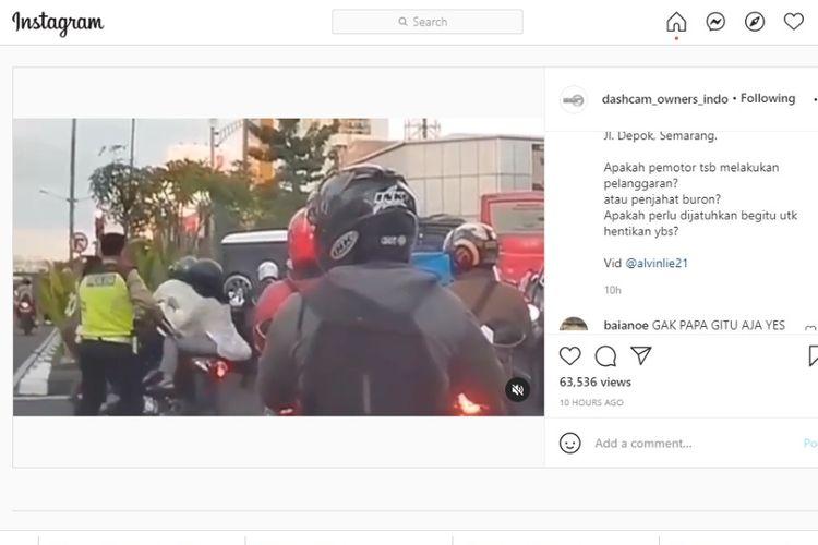 Pengendara motor terjatuh saat hendar kabur dari polisi