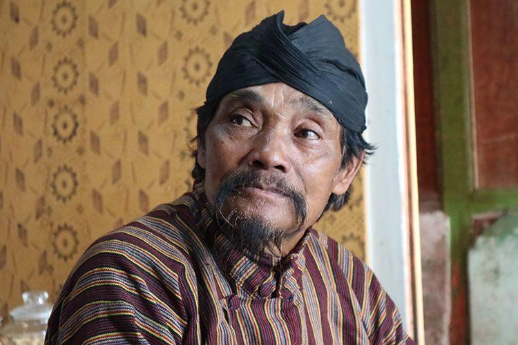 Mbah Sumanto (73), pemangku adat dalam acara Dieng Culture Festival 2019.