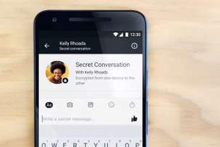 Ilustrasi fitur keamanan di Facebook Messenger