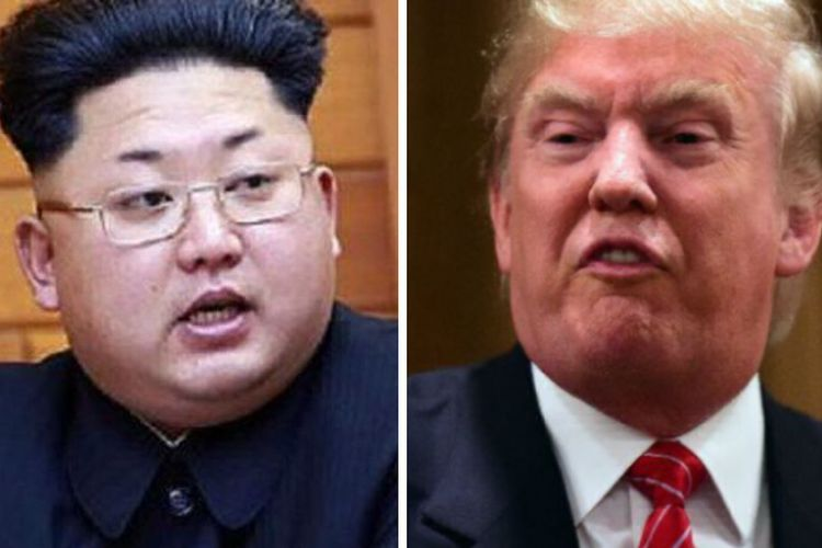 Kim Jong Un (kiri) dan Donald Trump (kanan).