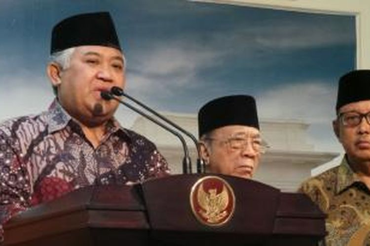 Ketua Umum Majelis Ulama Indonesia Din Syamsuddin.