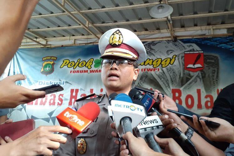 Kasubdit Gakkum Ditlantas Polda Metro Jaya Kompol Fahri Siregar di Polda Metro Jaya, Jakarta Selatan, Senin (28/10/2019).