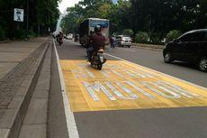 Tak Gunakan Jalur Kiri di Jalan Thamrin, Pengendara Motor Belum Ditilang