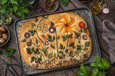 Viral Sourdough Challenge, Tantangan Menghias Roti Focaccia Pakai Rempah dan Sayuran