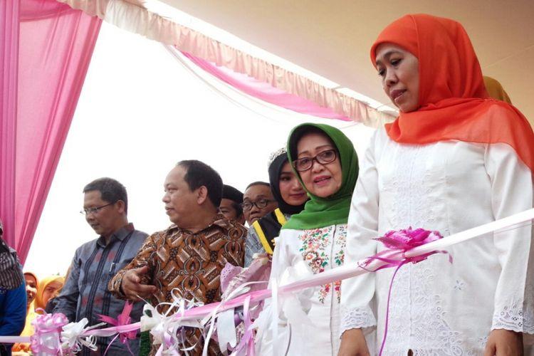 Gubernur Jawa Timur terpilih, Khofifah Indar Parawansa, saat menghadiri acara pembukaan kelas Internasional di kampus UNIPDU Rejoso Jombang, Sabtu (15/9/2018).