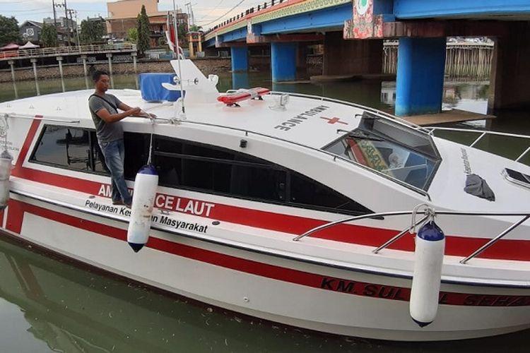 Salah satu ambulans laut Pemprov Sulsel
