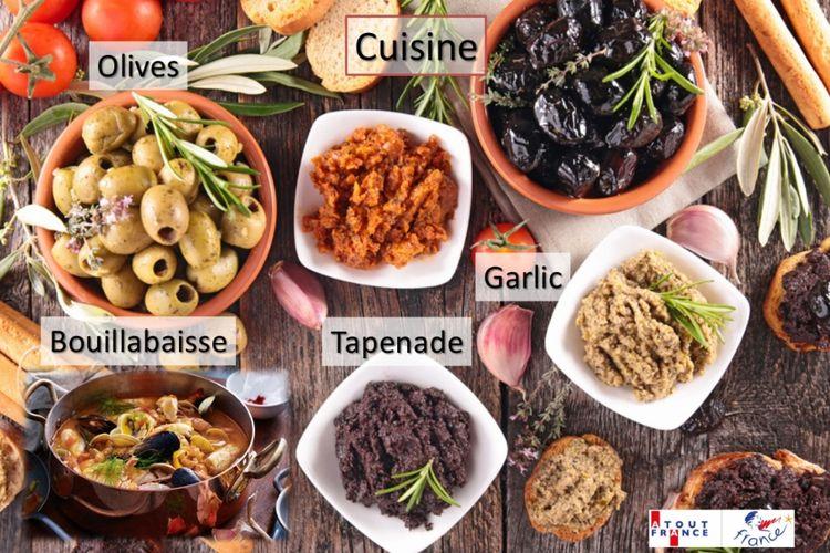 Makanan khas Provence, salah satu daerah di Prancis yang jadi ikon Good France tahun ini.