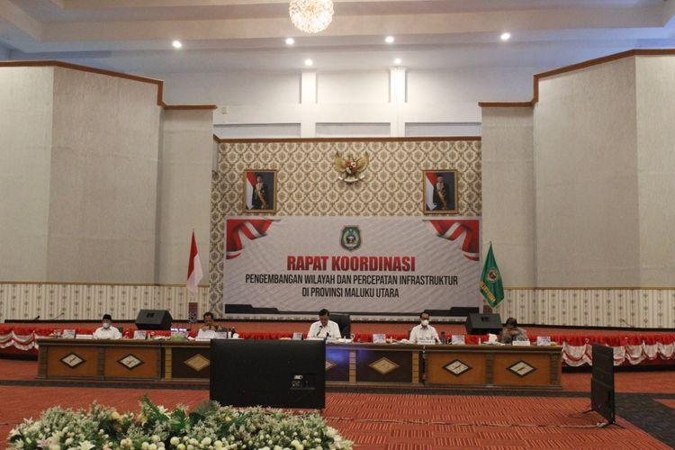 Rapat koordinasi pengembanagn wilayah dan percepatan infrastruktur Provinsi Maluku Utara.
