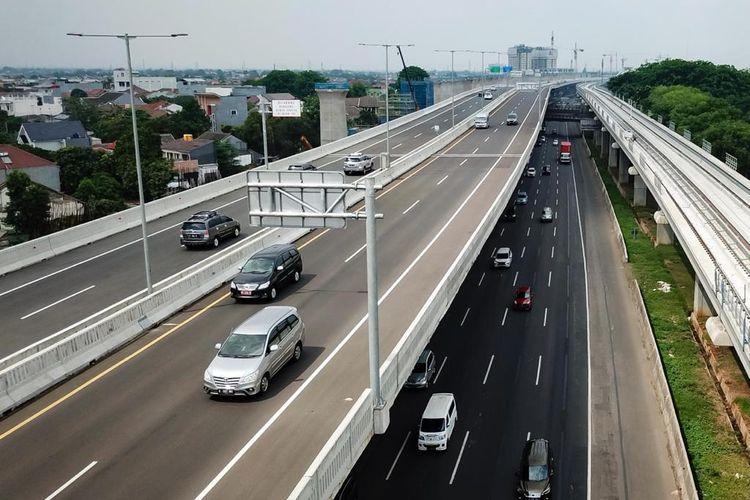 Jalan tol layang MBZ resmi ditutup pada masa larangan mudik Idulfitri 1442 H atau hari raya Lebaran 2021