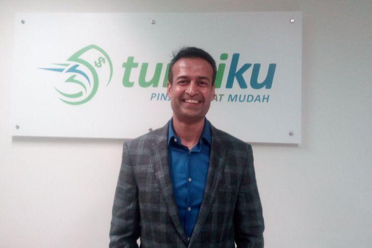 Managing Director Amar Bank-Tunaiku, Vishal Tulsian berada di kantornya, Jakarta Pusat, Kamis (14/11/2018).