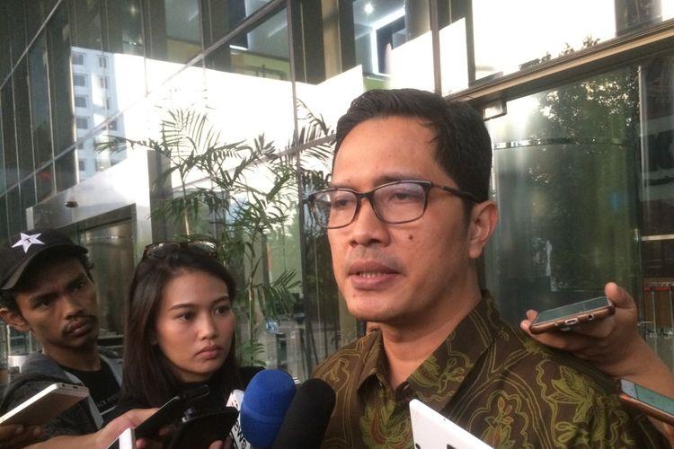 Juru Bicara KPK Febri Diansyah di Gedung Merah Putih KPK, Jakarta, Kamis (2/8/2018).