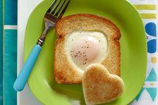 Resep Sarapan Praktis Roti Telur Teflon, Cukup 2 Bahan