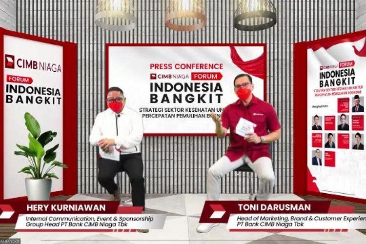 konferensi pers Forum Indonesia Bangkit yang dilakukan secara virtual di Jakarta, Kamis (1/4/2021).  (Tangkapan Layar)