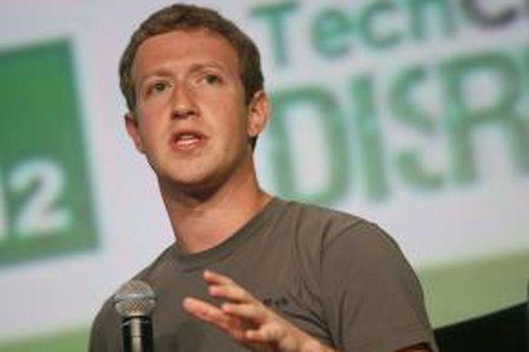 Pendiri dan CEO Facebook, Mark Zuckerberg