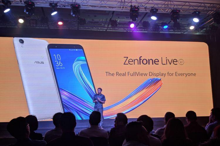 Peluncuran Asus Zenfone Live di Jakarta, Kamis (17/5/2018).