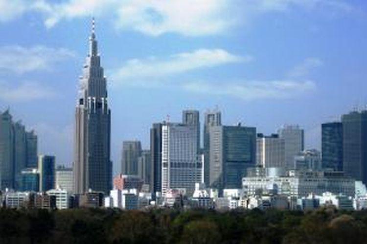 Pemandangan kota Tokyo, Jepang.