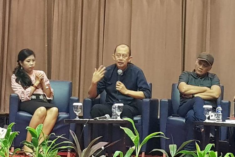Handoyo Taher saat menjadi pembicara di diskusi tentang RUU KKS di Universitas Atmajaya, Jakarta Pusat, Kamis (5/9/2019).