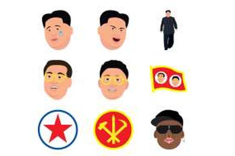 Wajah Kim Jong Un dalam aplikasi parodi Kimunji.
