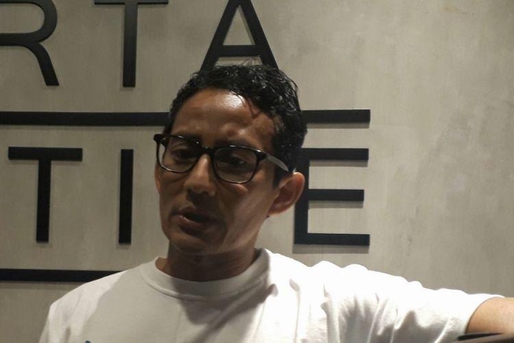 Wakil Gubernur DKI Jakarta Sandiaga Uno di Jakarta Creative Hub, Jakarta Pusat, Sabtu (25/11/2017).