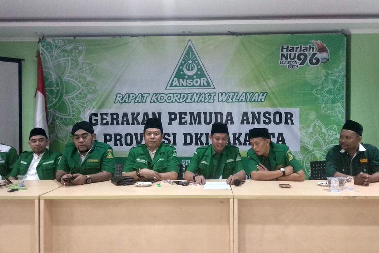 Rapat di Kantor PWNU DKI, Minggu (31/3/2019).