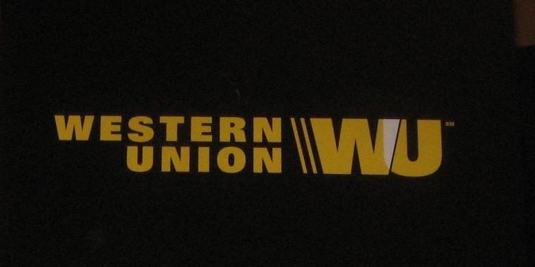 Logo Western Union. Perusahaan asal Amerika Serikat (AS) yang berdiri pada 1851 tersebut pertama kali meluncurkan jasa pengiriman uang pada 1995 di Indonesia.