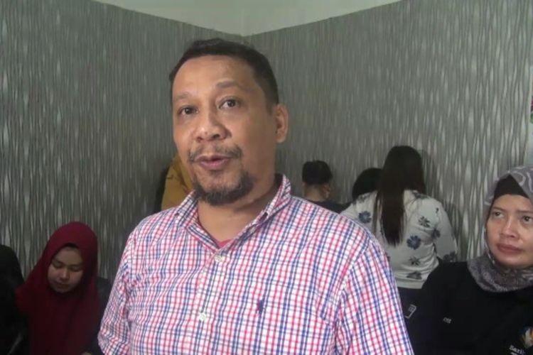 Kaaatpol PP Kota Makassar Iman Hud saat diwawancarai mengenai razia di malam hari valentine, Kamis (13/2/2020).