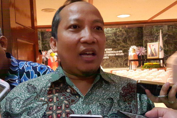 Kepala Badan Pemeriksa Keuangan (BPK) RI perwakilan DKI Jakarta Syamsudin di Balai Kota DKI Jakarta, Jalan Medan Merdeka Selatan, Kamis (20/7/2017).