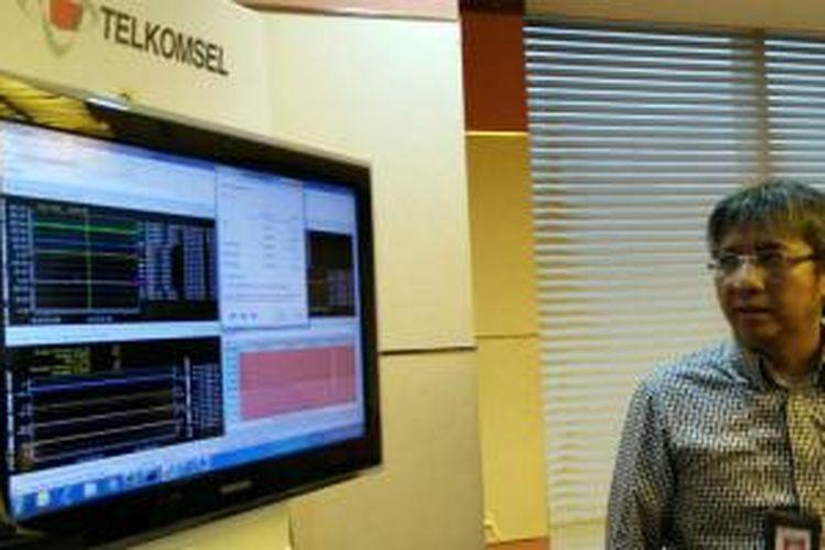 Hendri Mulya Syam, Senior Vice President LTE Project Telkomsel saat dijumpai KompasTekno di kantor Telkomsel, Selasa (16/12/2014).