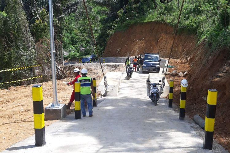 Jembatan gantung untuk konektivitas Palopo-Toraja, Sulawesi Selatan.