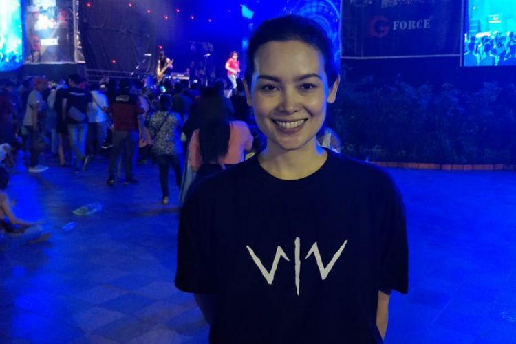 Lala Timothy saat ditemui dalam acara meet and greet pemain film Wiro Sableng 212 di Gambir Expo Jakarta Fair, Kemayoran, Jakarta Pusat, Sabtu (9/6/2018).