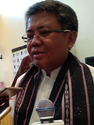 Presiden Partai Keadilan Sejahtera (PKS) Sohibul Iman di Kantor DPP PKS, Jalan TB Simatupang, Jakarta Selatan, Senin (6/1/2020).