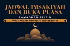 INFOGRAFIK: Jadwal Imsak dan Buka Puasa Pekanbaru Selama Ramadhan 1442 H