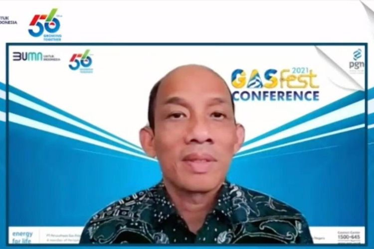 Komisaris Utama PGN Arcandra Tahar dalam Gasfest Conference 2021, Rabu (28/04/2021).